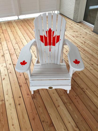 Adirondack Bear Chair Pinienholz BC201P, Wimborne White und Canada Wappen