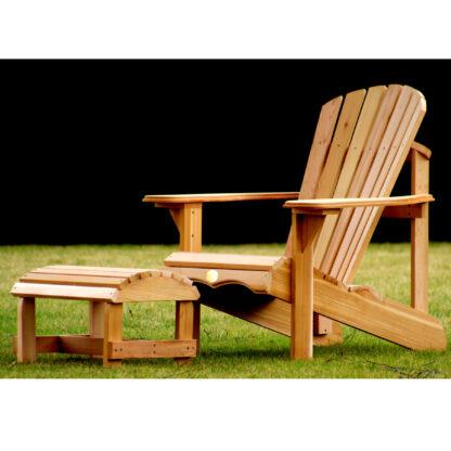 Bear Chair aus Zedernholz BC201C mit Bear Chair Footstool BC01C