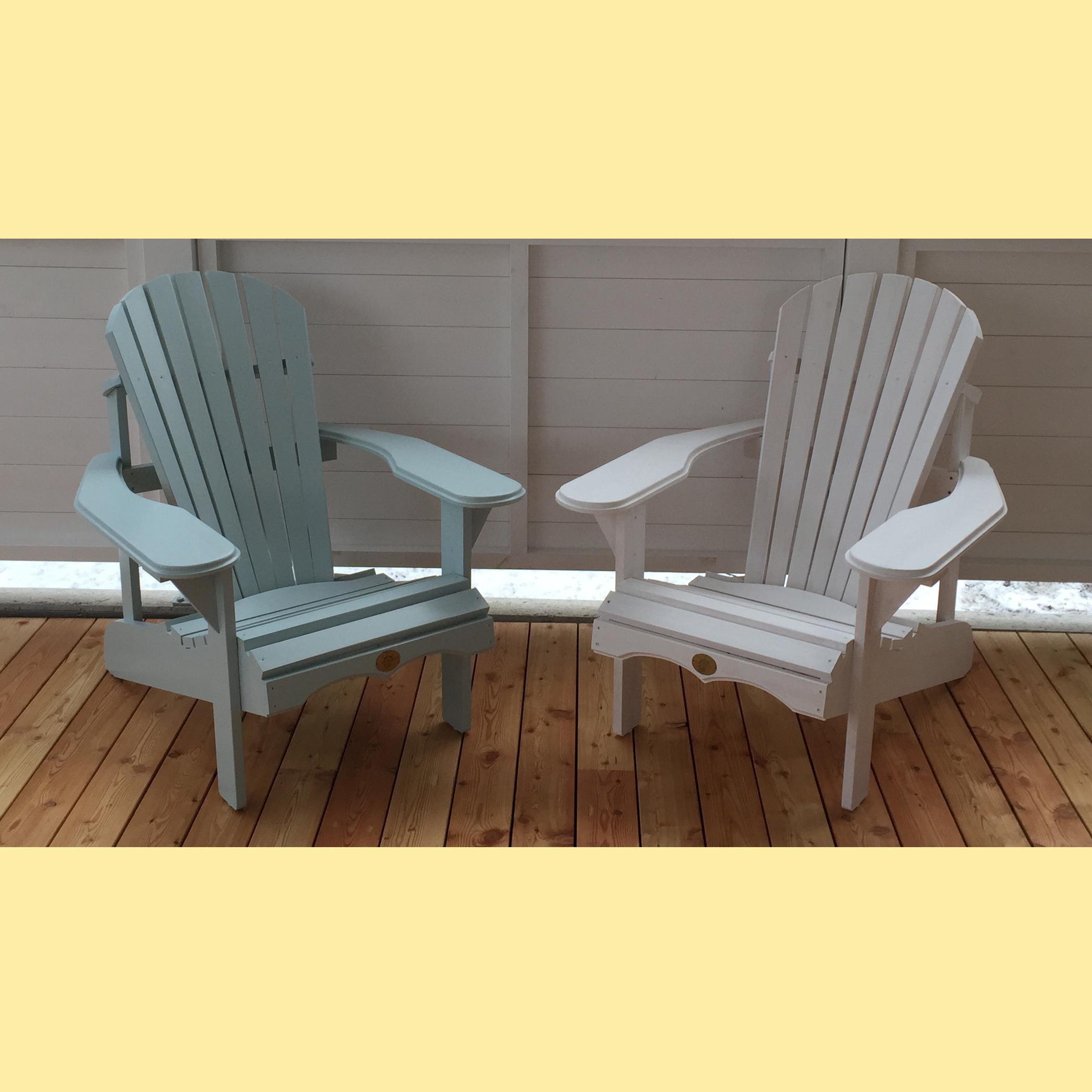 Adirondack Bear Chair Pinienholz BC201P, Wimborne White und Teresa's Green (aus der Farbpalette von Farrow and Ball) - 2er Frühlings-Aktion
