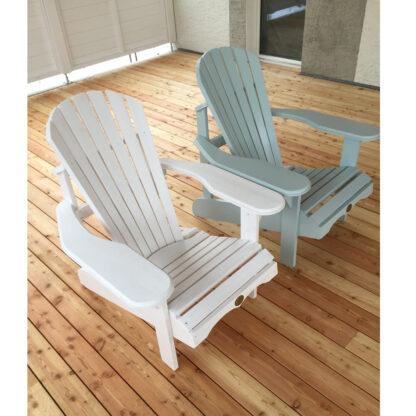 Adirondack Bear Chair Pinienholz BC201P, Wimborne White und Teresa's Green (aus der Farbpalette von Farrow and Ball)