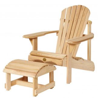 Set bestehend aus einem Bear Chair aus Zedernholz BC201C und einem Bear Chair Footstool BC01C