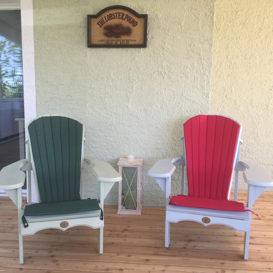 Adirondack Bear Chair Zedernholz BC201C mit Sitzpolster BC04Z