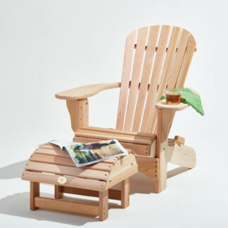 Royal Bear Chair mit Fussstuhl